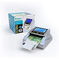 YATEK Detector de Billetes Falsos EC580 con 6 métodos de detección, con batería incluida y Preparado para los nuevos…