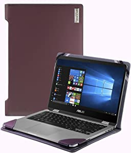 Navitech Broonel - Profile Series - Purple Leather Luxury Laptop Case Compatible with The Acer Chromebook 11, Celeron N3060, 11.6""