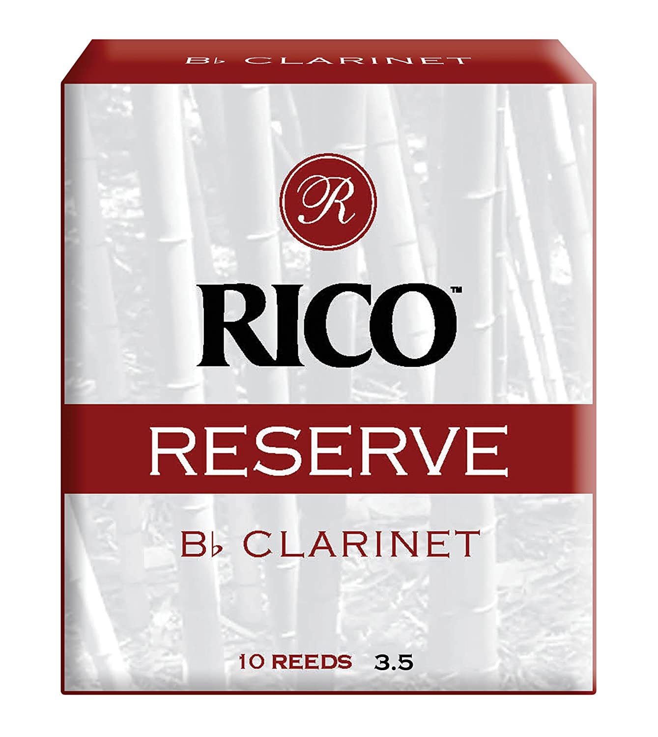 Rico Reserve Bb Clarinet Reeds, Strength 3.5, 10-pack RCR1035
