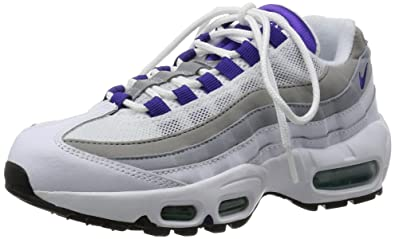best website 8f20f f2463 nike womens air max 95 running trainers 307960 sneakers shoes WHITE COURT  PURPLE-EMERALD