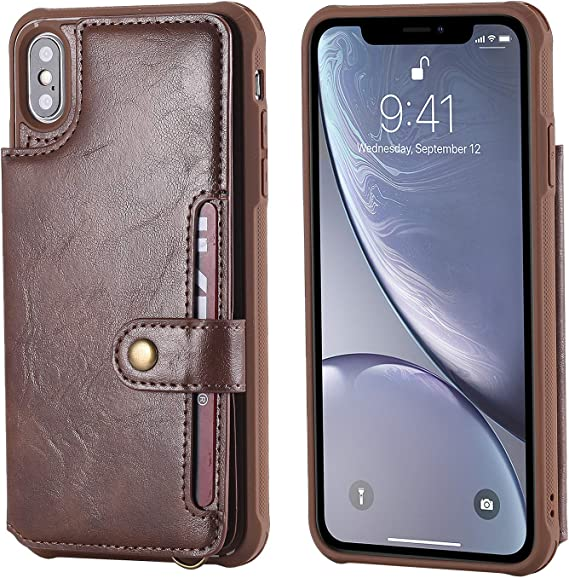 Leather Case Compatible with iPhone Xs Max Apple 6.5inches