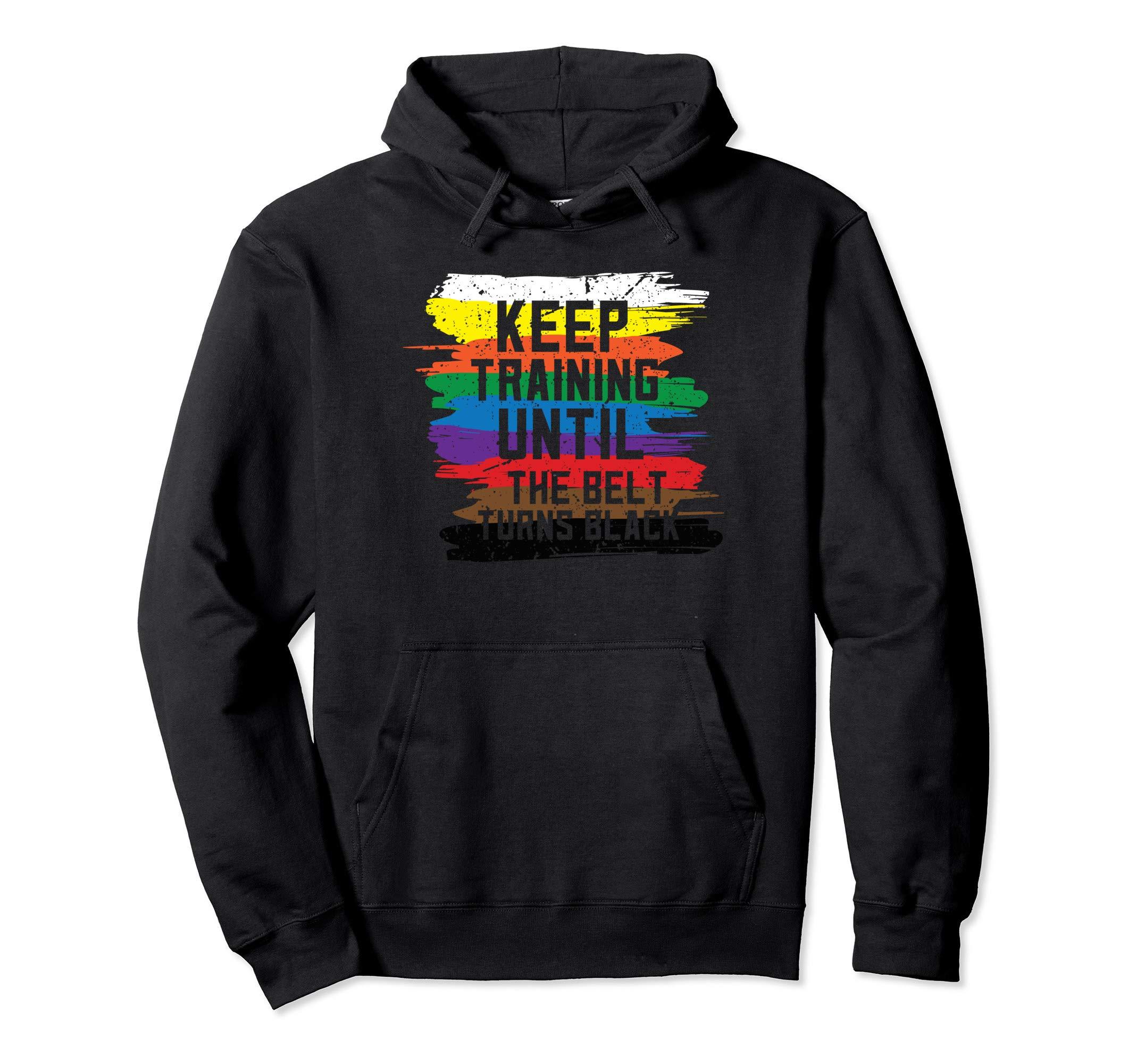 Black Belt Martial Art Training Karate Tae Kwon Do Pullover Hoodie by InGENIUS Martial Arts Shirts
