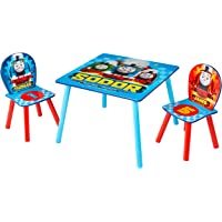 Hello Home Thomas and Friends Table and 2 Chairs, Wood, Blue, 63 x 63 x 52.5 cm