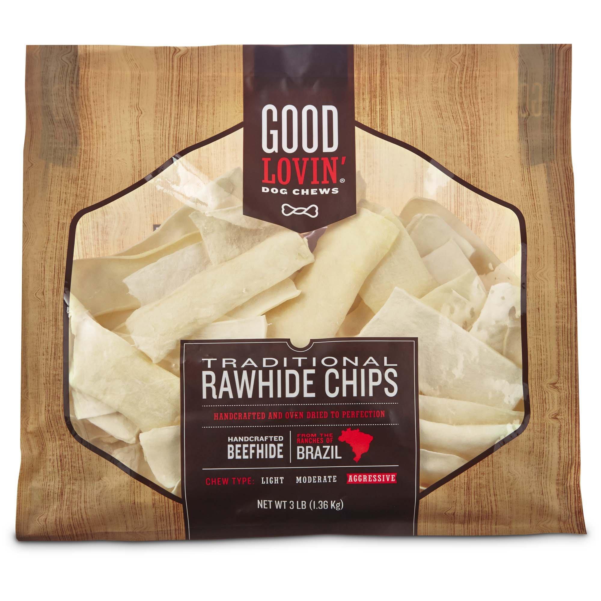 Good Lovin' Traditional Rawhide Chip Dog Chews, 3 lbs.