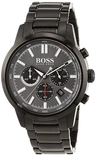 Hugo Boss - Reloj de Pulsera Hombre cronógrafo Cuarzo, Revestimiento de Acero Inoxidable 1513190: Amazon.es: Relojes