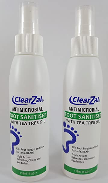 Amazon Com Clearzal Antimicrobial Foot Sanitizer Hand