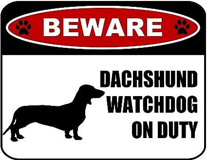 Amazon.com: pcscp cuidado con perro salchicha Watchdog de ...