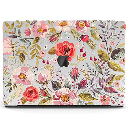 Wonder Wild Mac Retina Cover Case For MacBook Pro 15 inch 12 11 Clear Hard Air 13 Apple 2019 Protective Laptop 2018 2017 2016 2015 Plastic Print Touch Bar Flower Wildflowers Pattern Leaves Girly Green