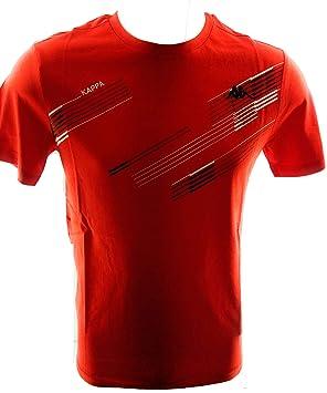 Kappa Camiseta Hombre Manga Corta (m, Rojo): Amazon.es: Deportes y aire libre