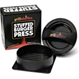Grillaholics Stuffed Burger Press and Recipe eBook - Extended Warranty - Hamburger Patty Maker for Grilling - BBQ Grill…