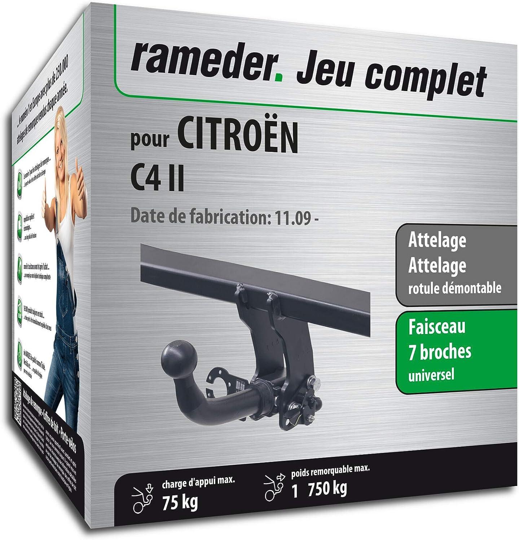 Rameder Attelage rotule d/émontable pour CITRO/ËN C4 II 128875-09006-1-FR Faisceau 7 Broches