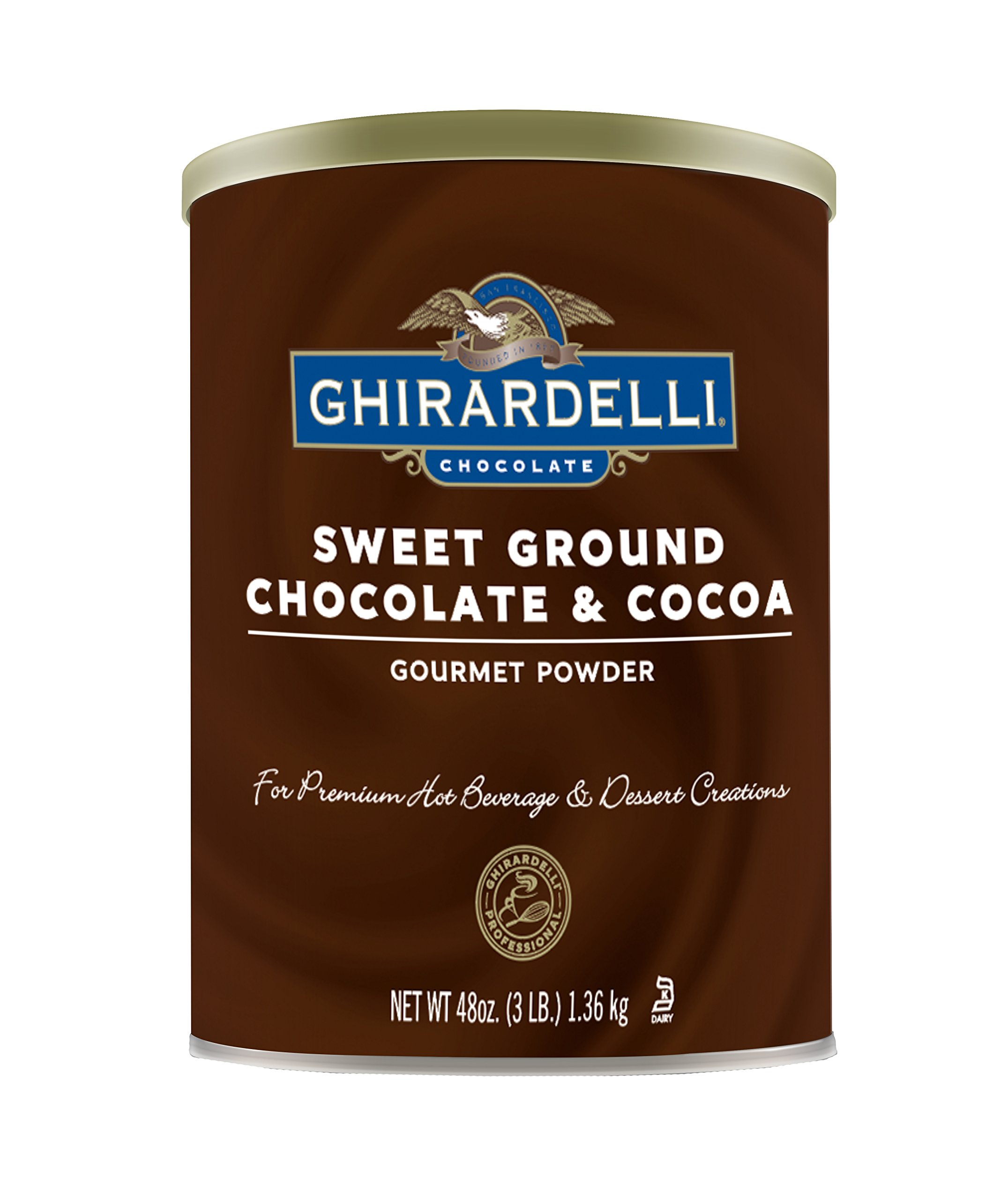 Ghirardelli Chocolate Sweet Ground Chocolate and Cocoa Beverage Mix, 48 Ounce