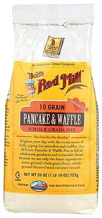 Mezcla de 10 granos de panqueques y gofres.: Amazon.com ...