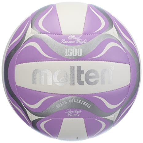 MOLTEN – Balón de Voleibol de Playa – 5, Blanco/Morado/Plateado ...