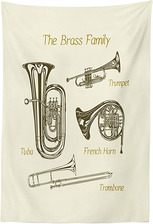Bass Tuba Art Print on Vintage Book Page Home Office Decor Wall Hanging Gifts