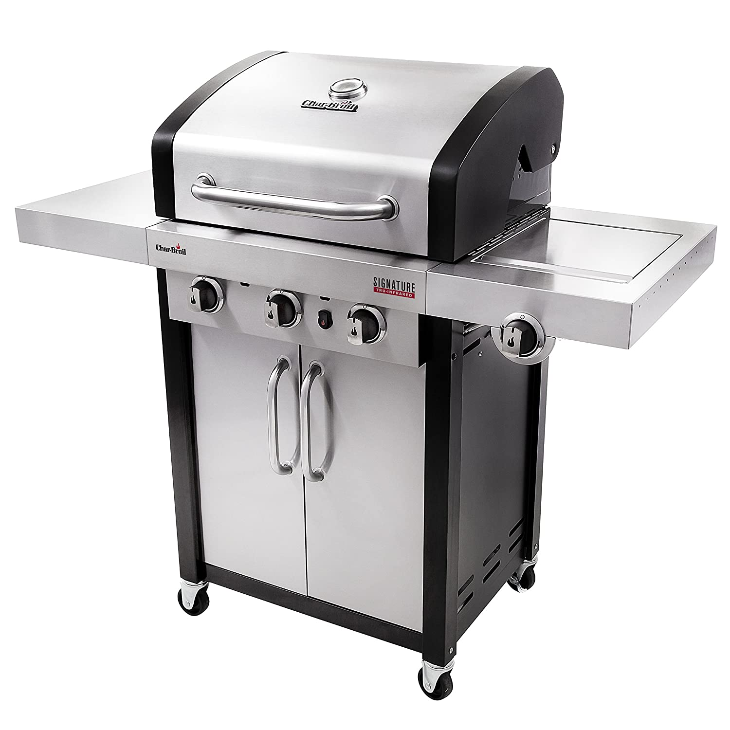 Char Broil Signature TRU Infrared 3 Burner Cabinet Gas Grill Amazon