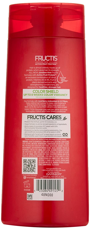 Amazon Garnier Fructis Color Shield Shampoo Color Treated Hair
