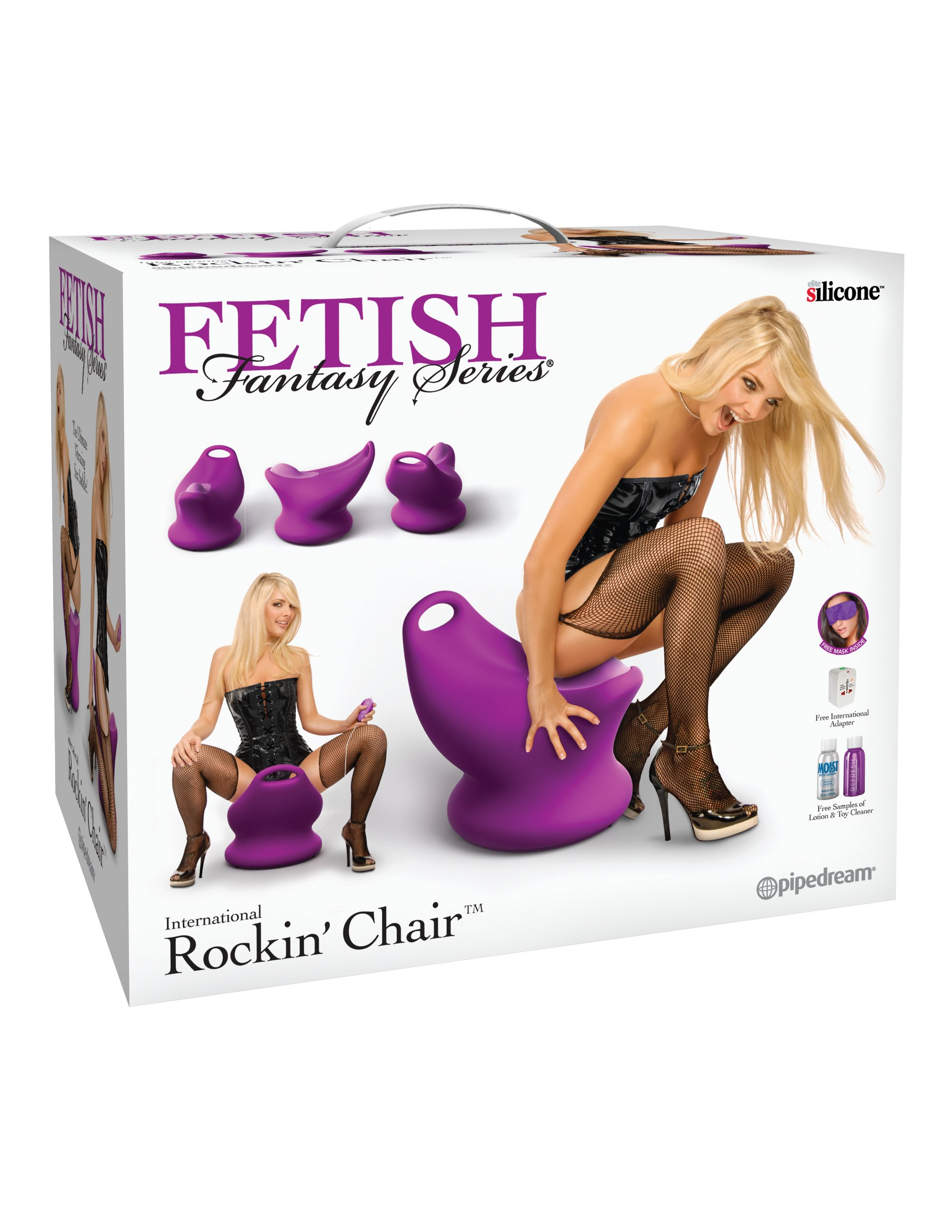 Fetish Fantasy Series International Rockin' Chair - Purple by Pipedream