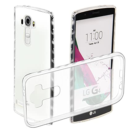 new products 7161e 73b11 LG G4 Case, Ssenlin Ultra-Thin Transparent Clear Flexible Smooth ...