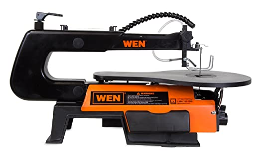 table jigsaw tool. amazon.com: wen 3920 16-inch two-direction variable speed scroll saw with flexible led light: home improvement table jigsaw tool d