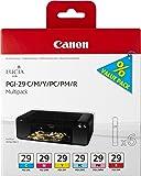 Canon PGI-29 C/M/Y/PC/PM/R Multipack - Cartucho de tinta para Pixma Pro 1 (pack de 5 colores)