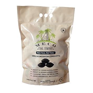 Premium Coco Briquetas de carbón para asar de Meco