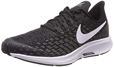 c4f6415b6740 Nike Boy s Air Zoom Pegasus 35 Running Shoe Black White Gunsmoke Oil Grey