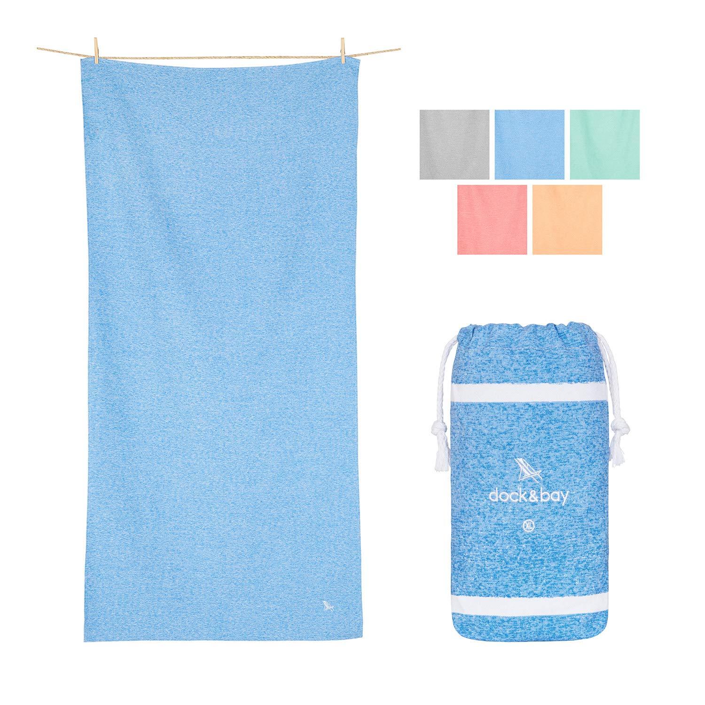 Dock & Bay Quick Dry Towel for Pilates - Lagoon Blue, 78 x 35 - Yoga, Pilates & Beach - XL Yoga Towel for Bikram, Gym, Sports