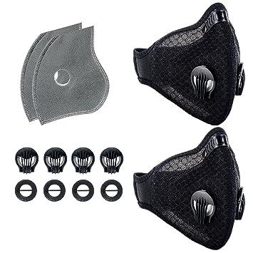 KrisVie - Máscara Antipolvo de carbón Activado para filtrar Gases de Escape PM2,5 para