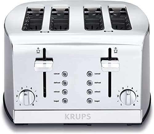 KRUPS-KH734D-Breakfast-Set-4-Slot-Toaster-with-Brushed