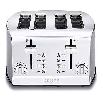 KRUPS Silver Breakfast 4-Slice Toaster