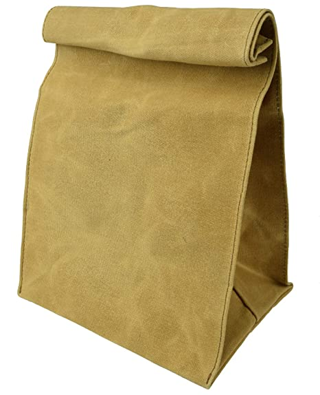 Amazon.com: Encerado Lona reutilizable bolsa de almuerzo ...