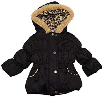 8f57f2549f9 Amazon.com : Black Heavyweight Puffer Jacket Made By Pink Platinum ...