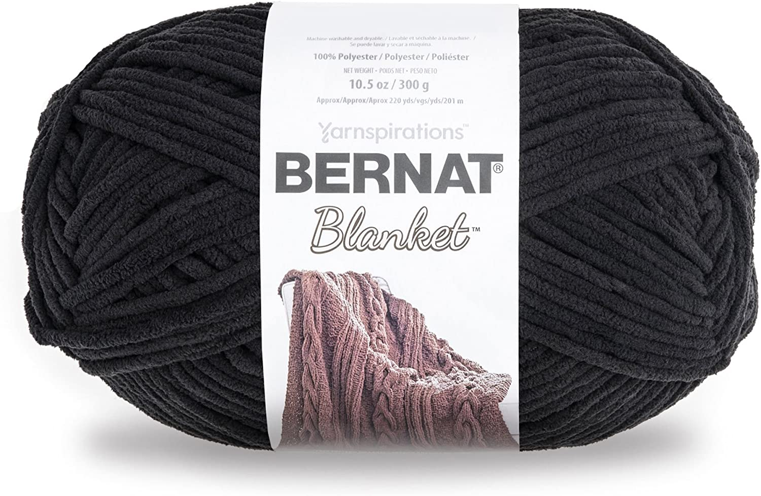 Bernat Blanket Yarn, 10.5 oz, Coal, 1 Ball