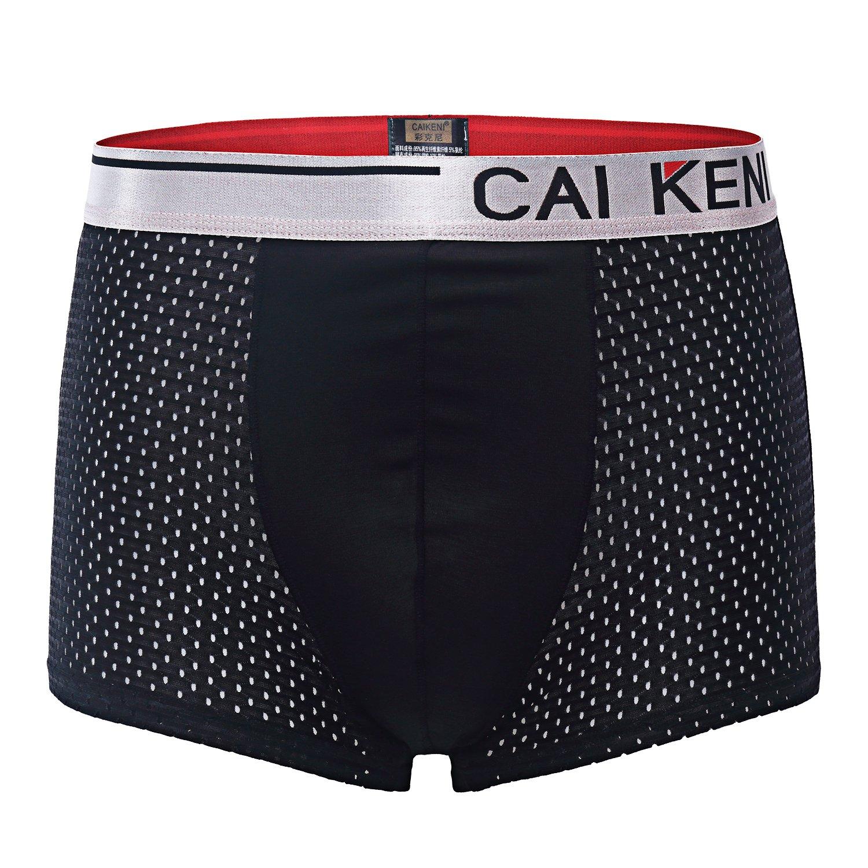 CAIKENI Men\'s Sexy Soft Men\'s Cotton Classics Boxer Brief Sports Underwear Breathable 3 Packs differ color trunks