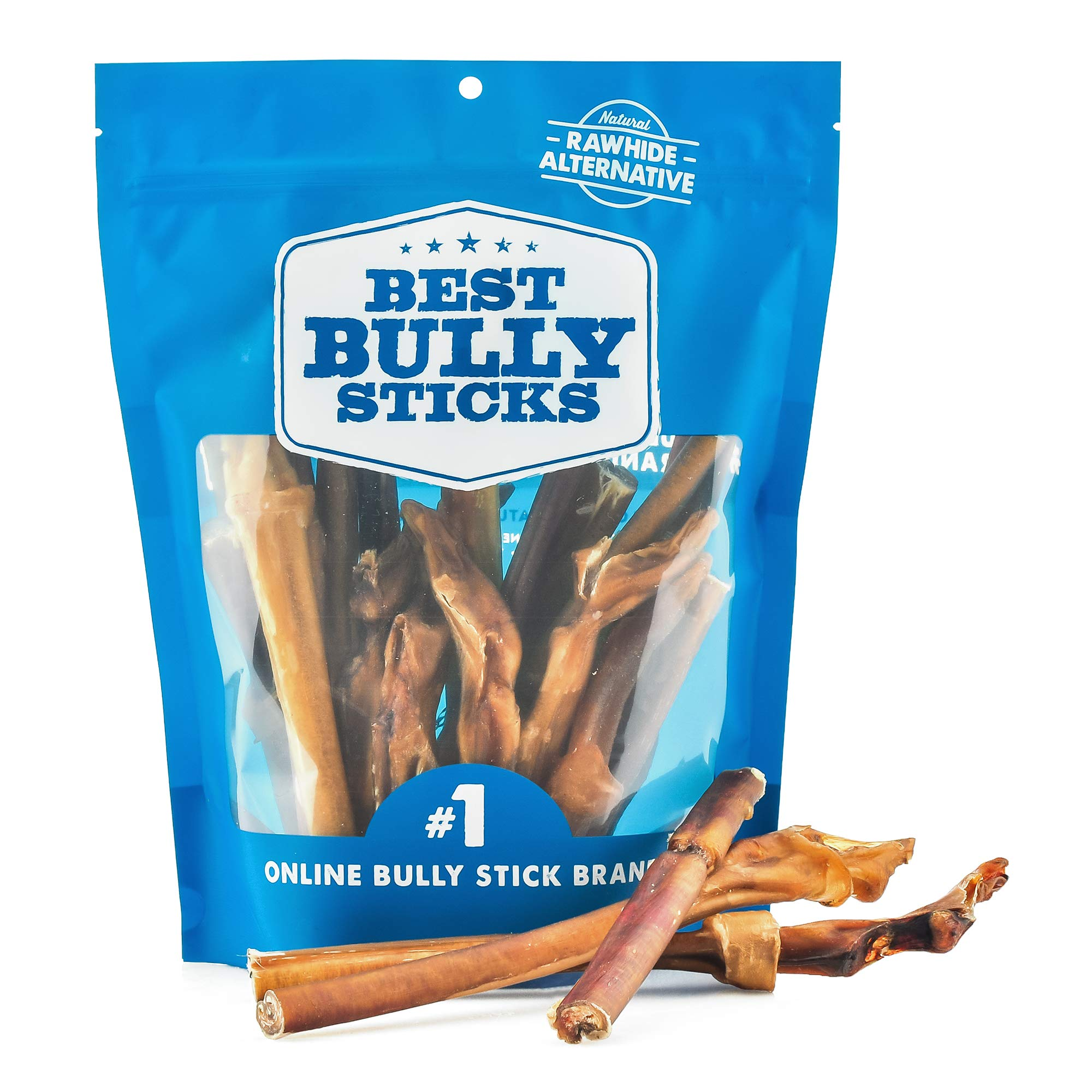 Best Bully Sticks 4-to-8 Inch Junior Bully Sticks (1lb. Bag) - Grain-Free, Single-Ingredient, Grass-Fed, Free-Range, 100% All-Natural Beef Dog Treat Chews