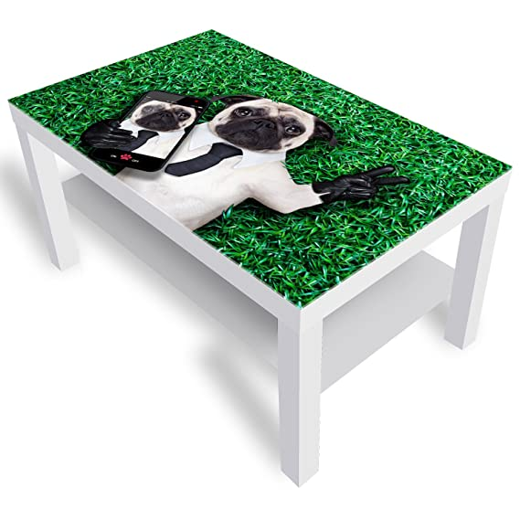 Wohnzimmer Tische 55x55x45 cm Schwarz DekoGlas IKEA Lack ...