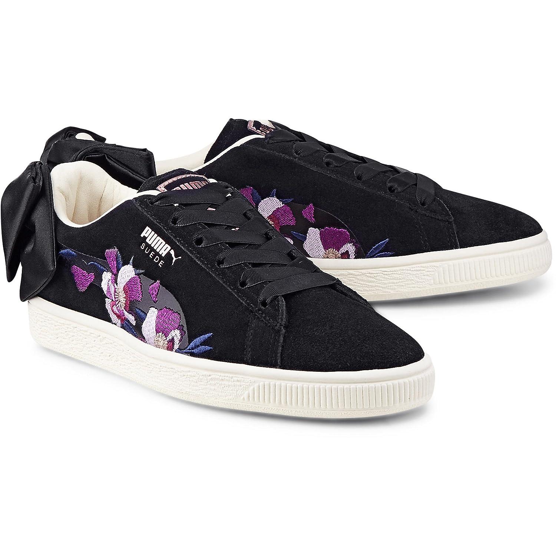 Suede Blackrose Chaussures Gold Puma Bow W Flowery bf67yg