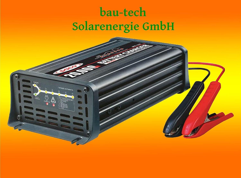 Batterieladegerä t 12V, 20 Amper, 7-Stufen IUoU Automatik, Blei Calcium VRLA AGM GEL Nass von bau-tech Solarenergie GmbH