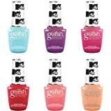 Gelish Summer MTV Switch On Color Collection 9 mL Soak Off Gel Nail Polish Set, 6 Color Pack with Electric Remix, Ultimate Mi