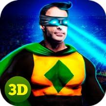 Flying Eye Laser Superhero: Night City Crime Fighting Alien Legend Simulator