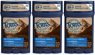 product image for Tom's of Maine Long-Lasting Aluminum-Free Natural Deodorant for Men, Mountain Spring, 2.25 oz. 3-Pack