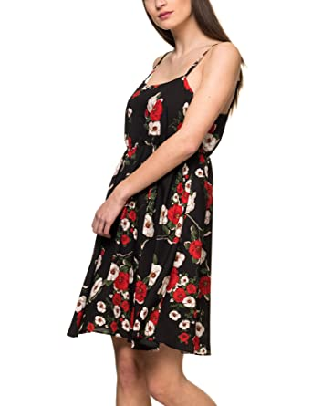 By Women's Sh Heach Floral BlackAmazon co Dress uk Sorer Silvian QExorBWCde