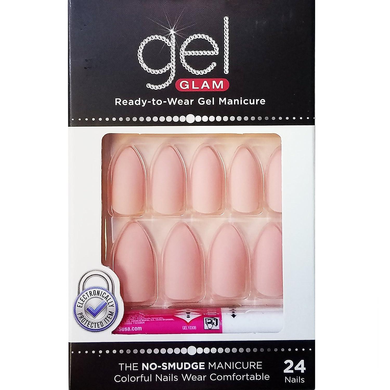 Kiss Gold Finger Gel Glam 24 Nails GFC11 PINK (2 Pack) Ivy Enterprises Inc.