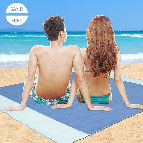 Alfombras de Playa Anti-Arena(200X200 CM) Minetom 3 capas Manta de Picnic
