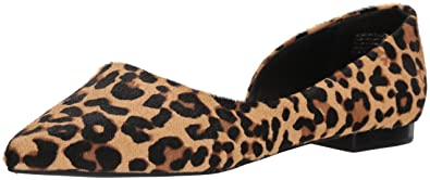 354c05b38faa3 Steve Madden Womens Audr06s1 Calf Hair Pointed Toe Slide, Leopard, Size 5.5