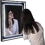 Quadro Espelho Abajur 40 x 60 Bronze BW QUADROS, Bronze