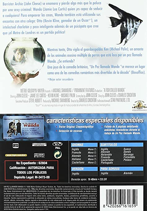 Amazon.com: Un Pez Llamado Wanda (Import Movie) (European Format - Zone 2) (2006) John Cleese; Kevin Kline; Jamie Lee C: Movies & TV
