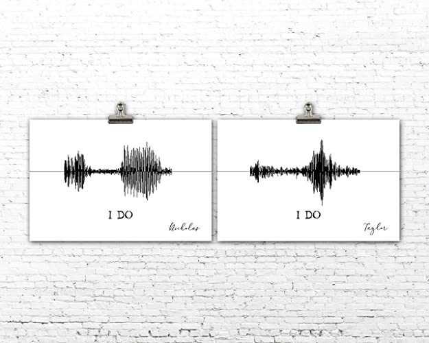Amazon com: Custom Sound Wave Art Unframed Print