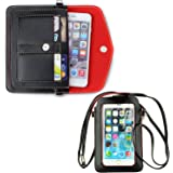 Ranboo girl wallet purse with strap + woman crossbody shoulder bag with card slot iphone 6s 6 plus Samsung S6 S5 Galaxy Note 5 N9200 S6 Edge Plus Note 4 3 HTC LG (Black+Black)